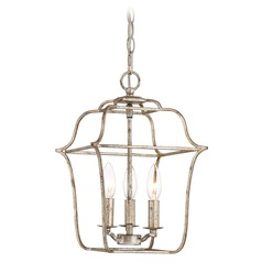 Quoizel Lighting Gallery Century Silver Leaf Mini-Pendant Light