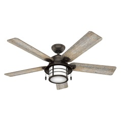 Hunter 54-Inch Onyx Bengal Ceiling Fan with Light