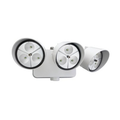 Dusk-to-Dawn 3-Head LED Floodlight