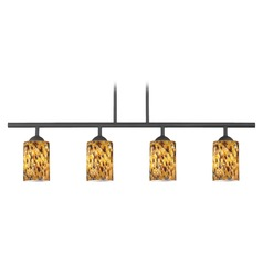 Design Classics Axel Fuse Matte Black Island Light with Cylindrical Shade
