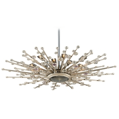 Mid-Century Modern Pendant Light Silver Leaf Big Bang by Corbett Lighting