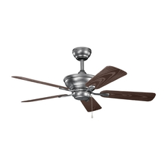 Kichler Lighting Trent Weathered Steel Powder Coat Ceiling Fan Without Light