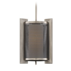 Quoizel Lighting Metropolis Antique Nickel Mini-Pendant Light with Cylindrical Shade