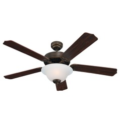 Sea Gull Lighting Quality Max Plus Russet Bronze LED Ceiling Fan with Light