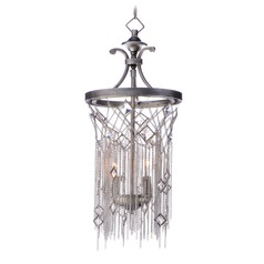 Maxim Lighting Alessandra Silver Mist Mini-Pendant Light with Cylindrical Shade