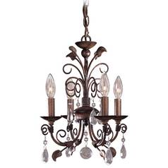 Mini-Chandelier in Belcaro Walnut Finish