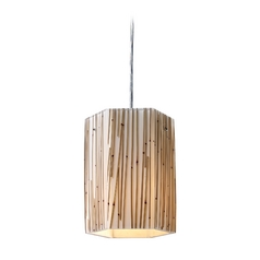 Modern Mini-Pendant Light with Brown Glass