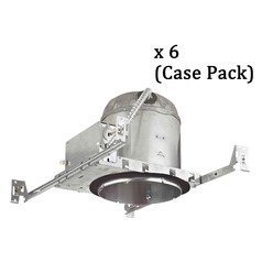 Recesso 6-Inch Recessed Can Light - IC & Airtight - Case Pack of 6