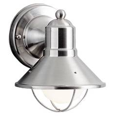 Kichler Lighting Nautical Outdoor Wall Light in Brushed Nickel - 7-1/2-Inches Tall 9021NI
