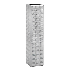 UMA Enterprises Tall Silver Ceramic Vase 71712