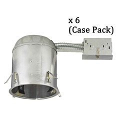 Recesso 6-Inch Remodel Recessed Can Light - IC & Airtight- Case Pack of 6