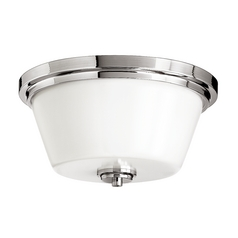 Two-Light Polished Chrome Flushmount Ceiling Light