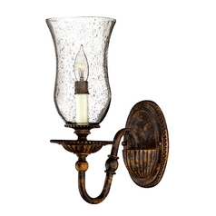 Seeded Glass Sconce Bronze Hinkley Lighting