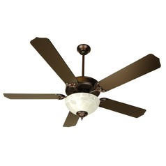 Craftmade Pro Builder 201 Oiled Bronze Ceiling Fan with Light