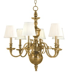 Hudson Valley Lighting Charleston Aged Brass Chandelier