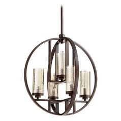 Mercury Glass Chandelier Oiled Bronze Quorum Lighting