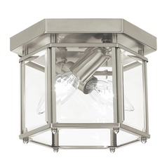 Sea Gull Lighting Bretton Brushed Nickel LED Flushmount Light