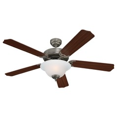 Sea Gull Lighting Quality Max Plus Brushed Nickel LED Ceiling Fan with Light