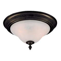 Flushmount Light with White Glass in Kentucky Bronze Finish