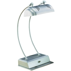 Lite Source Lighting Megalite Satin Steel Desk Lamp