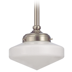 8-Inch Schoolhouse Mini-Pendant Light