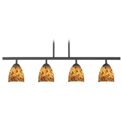 Design Classics Axel Fuse Matte Black Island Light with Bell Shade