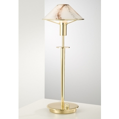 Holtkoetter Modern Table Lamp with White Glass in Polished Brass Finish