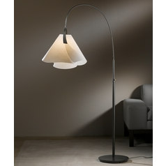 Hubbardton Forge Lighting Mobius Dark Smoke Arc Lamp