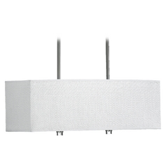 Quorum Lighting Copeland Satin Nickel Island Light with Rectangle Shade