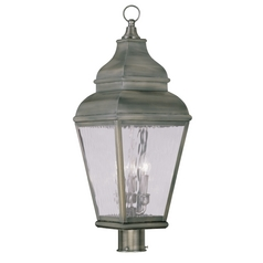 Livex Lighting Exeter Vintage Pewter Post Light