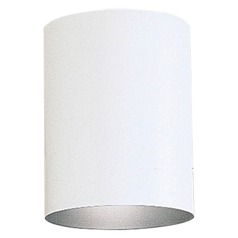 Progress Lighting Cylinder White LED Close To Ceiling Light