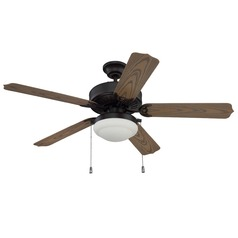 Craftmade Lighting Cove Harbor Aged Bronze Brushed Ceiling Fan with Light