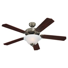 Sea Gull Lighting Quality Max Plus Antique Brushed Nickel LED Ceiling Fan with Light