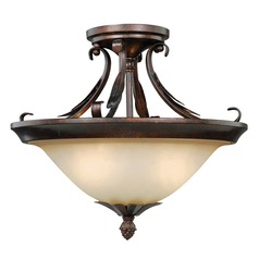 Coricelli Royal Bronze Semi-Flushmount Light by Vaxcel Lighting