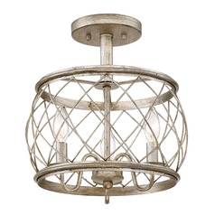 Quoizel Lighting Dury Century Silver Leaf Semi-Flushmount Light