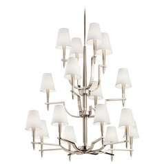 Kichler Lighting Kinsey 16-Light Polished Nickel Chandelier