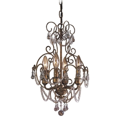 Mini-Chandelier in Regency Gilded Gold Finish