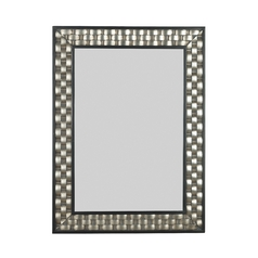 Checker Rectangle 28-Inch Mirror
