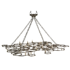 Currey and Company Lighting Annato Antique Silver Pendant Light