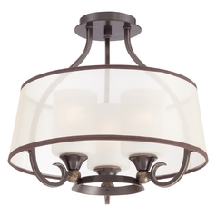 Quoizel Lighting Palmer Palladian Bronze Semi-Flushmount Light