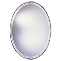 New London Oval 24-Inch Mirror