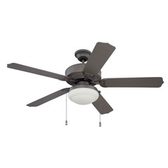 Craftmade Lighting Cove Harbor Espresso Ceiling Fan with Light