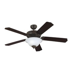 Sea Gull Lighting Quality Max Plus Heirloom Bronze LED Ceiling Fan with Light