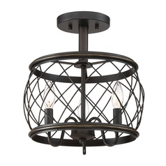 Quoizel Lighting Dury Palladian Bronze Semi-Flushmount Light