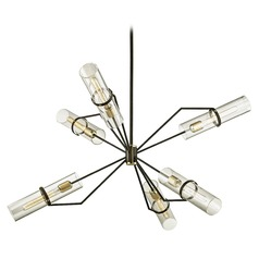 Troy Lighting Raef Textured Bronze Brushed Brass Chandelier