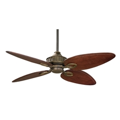 Ceiling Fan Without Light in Venetian Bronze Finish