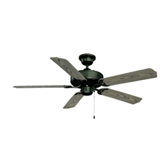 Ceiling Fan with Light with White Glass in Aged Bronze Finish
