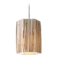 Elk Lighting Modern Organics Polished Chrome Mini-Pendant Light with Hexagon Shade