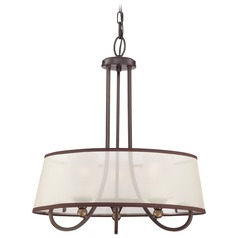 Quoizel Palmer Palladian Bronze Pendant Light with Drum Shade