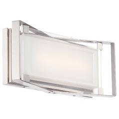 George Kovacs Crystal Clear Polished Nickel LED Bathroom Light